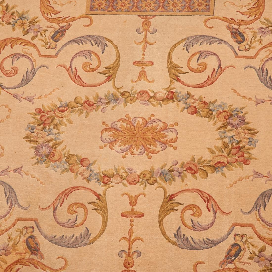 "Savonnerie style carpet signed ""R.C."" - 6"