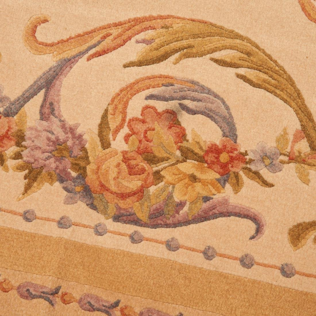 "Savonnerie style carpet signed ""R.C."" - 7"