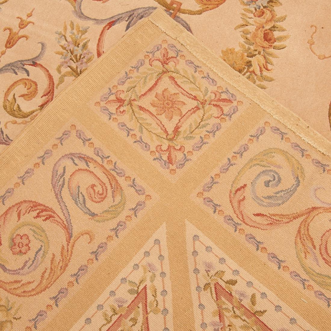"Savonnerie style carpet signed ""R.C."" - 9"