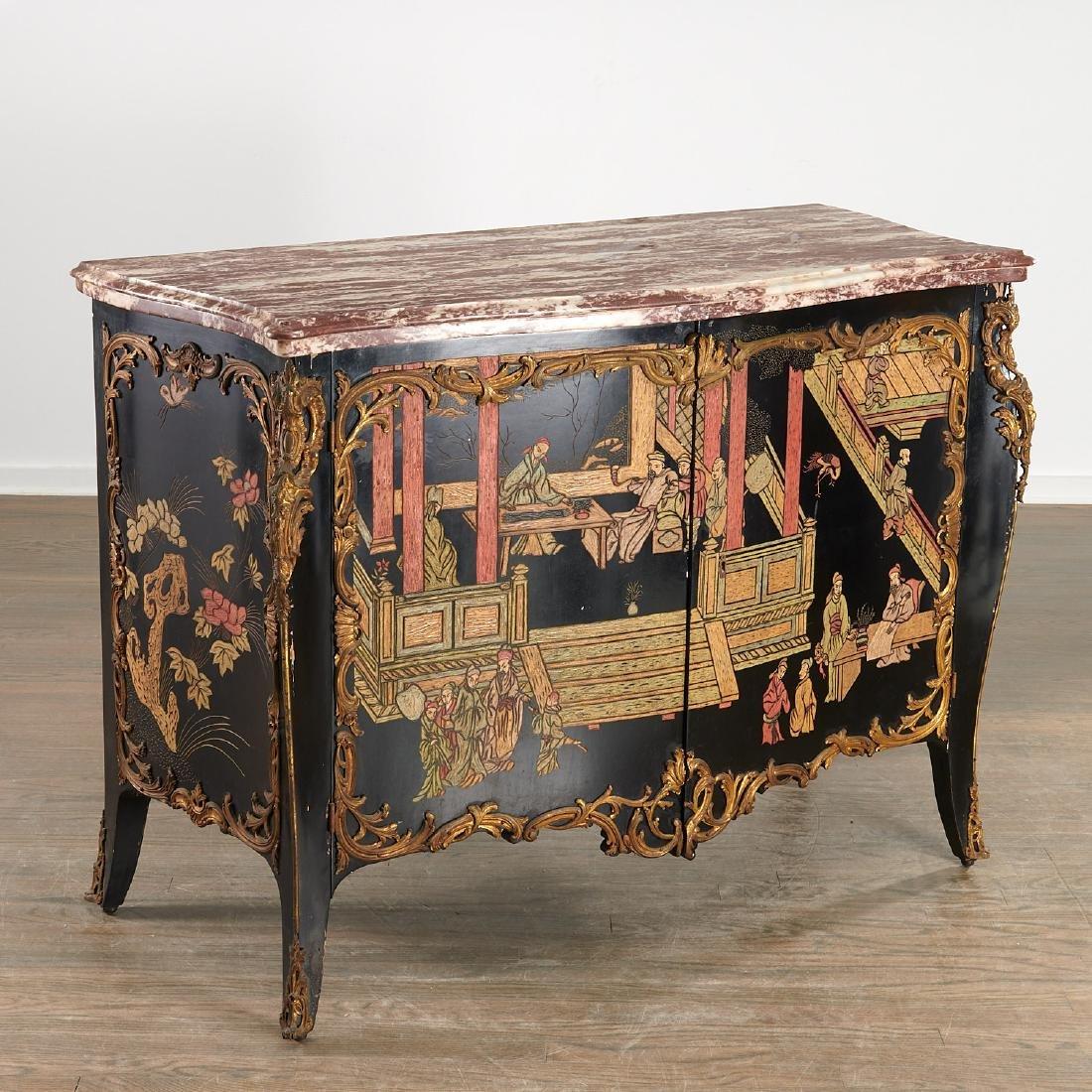 Louis XV style coromandel commode a vantaux