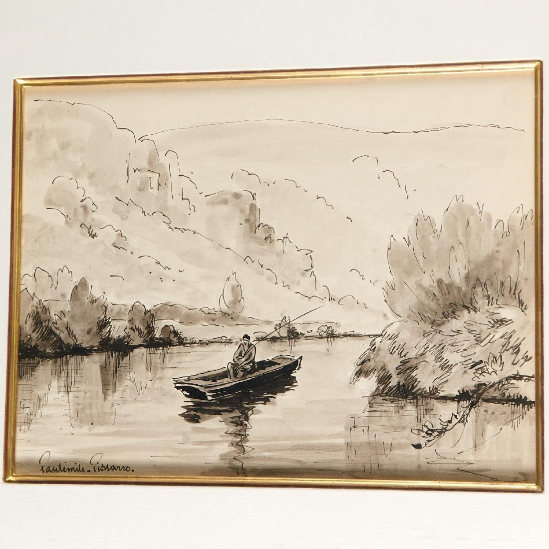Paulemile Pissarro, drawing - 2