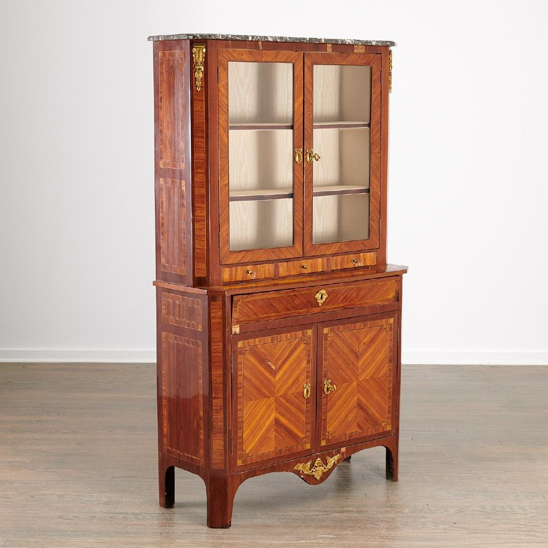 Louis XVI library secretaire bookcase