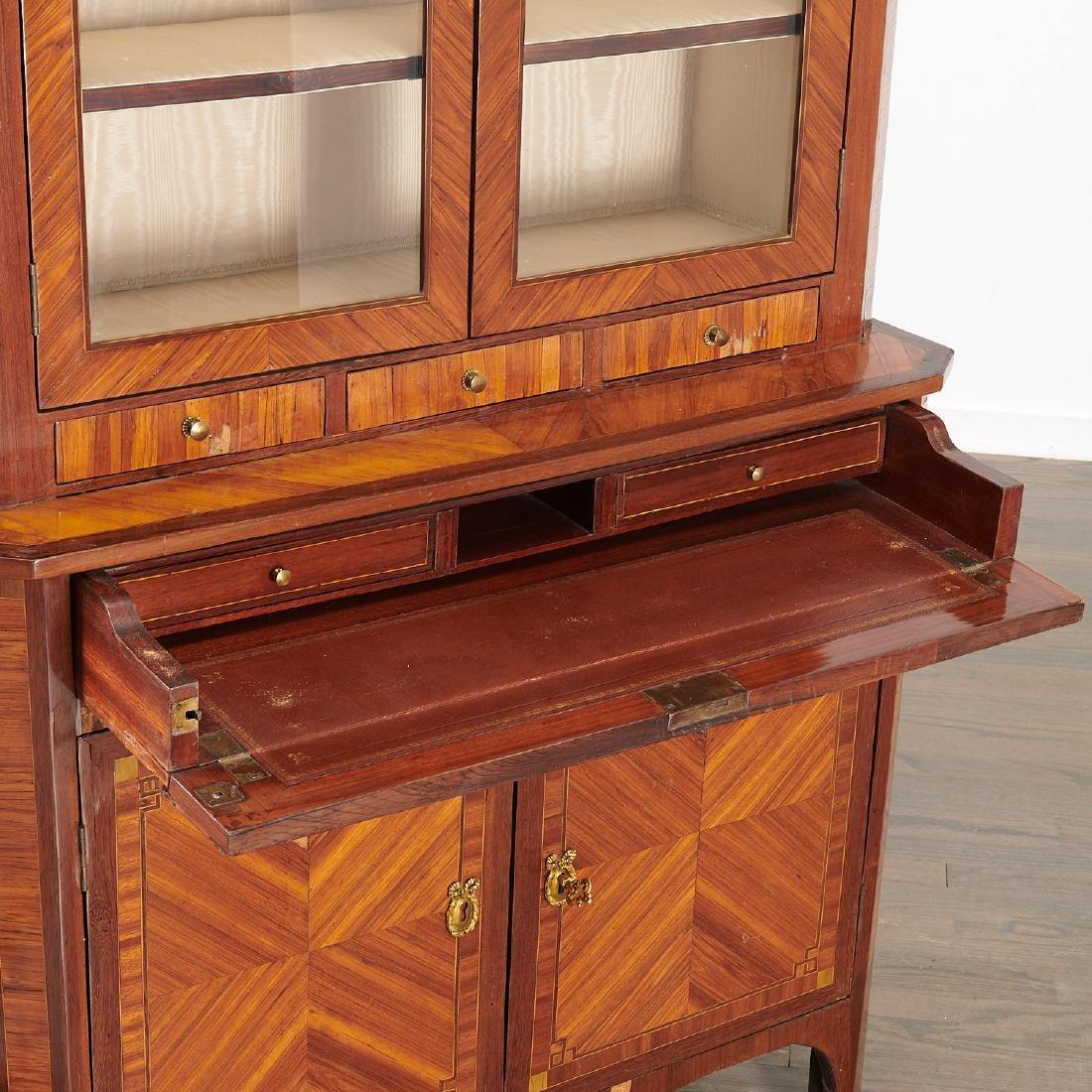 Louis XVI library secretaire bookcase - 3