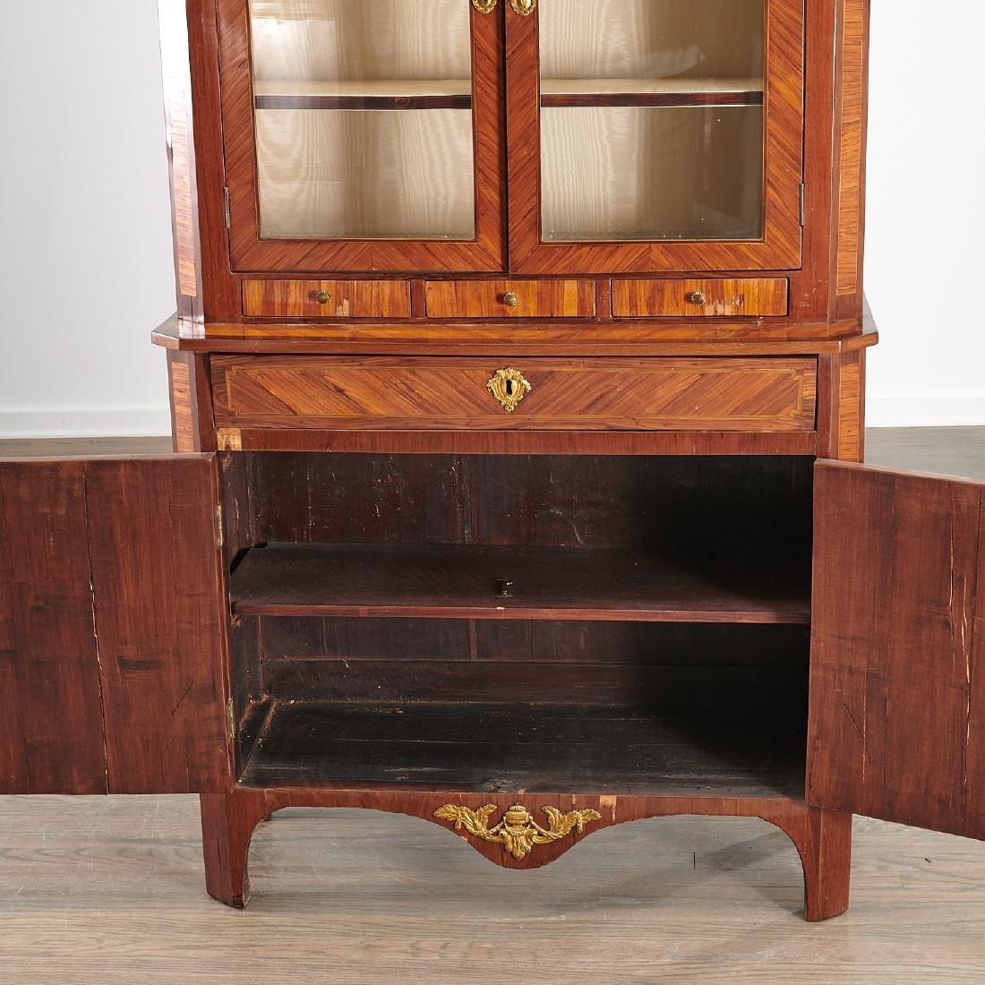 Louis XVI library secretaire bookcase - 5