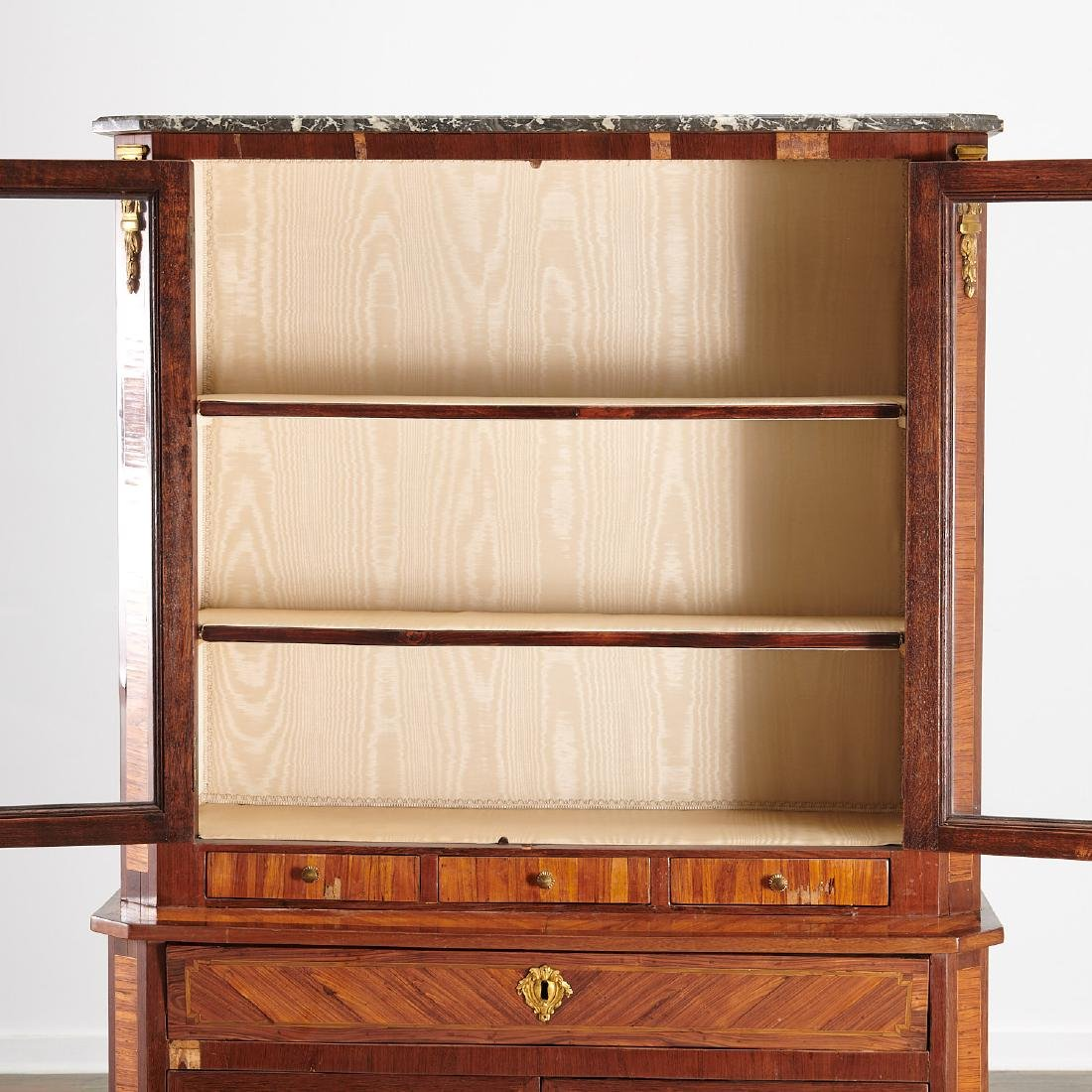 Louis XVI library secretaire bookcase - 6