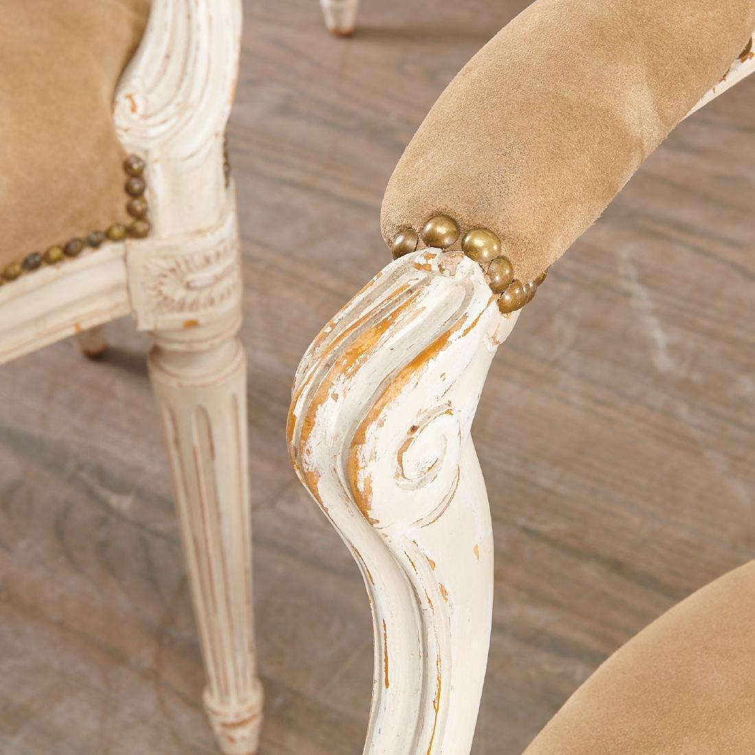 Set (8) Louis XVI style fauteuils - 2
