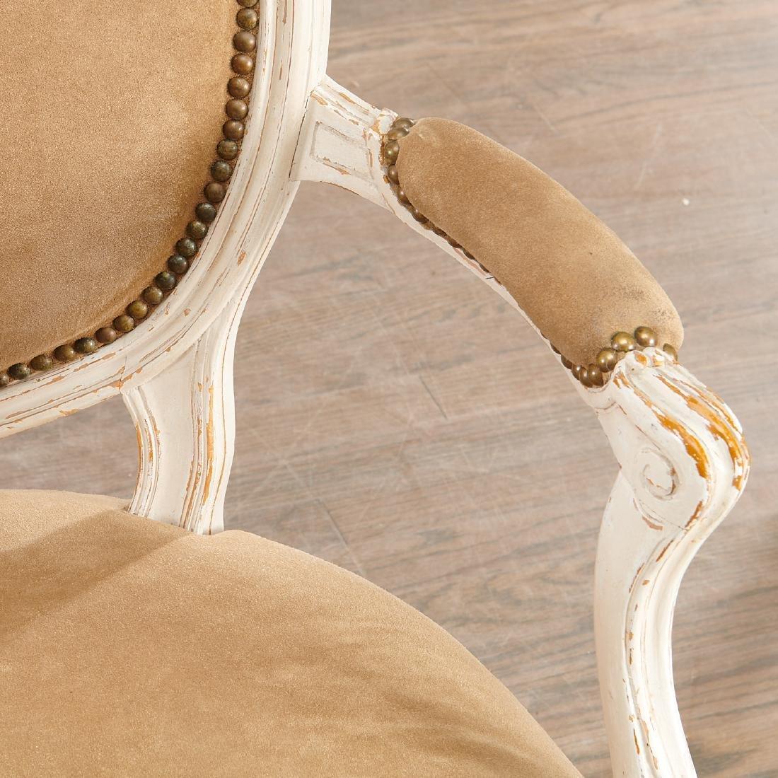 Set (8) Louis XVI style fauteuils - 3