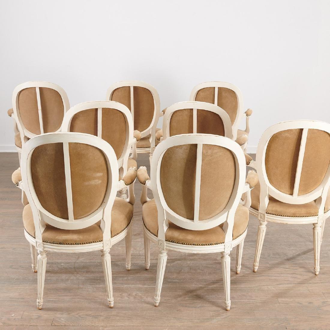 Set (8) Louis XVI style fauteuils - 7