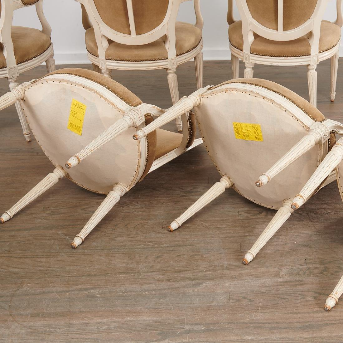 Set (8) Louis XVI style fauteuils - 8