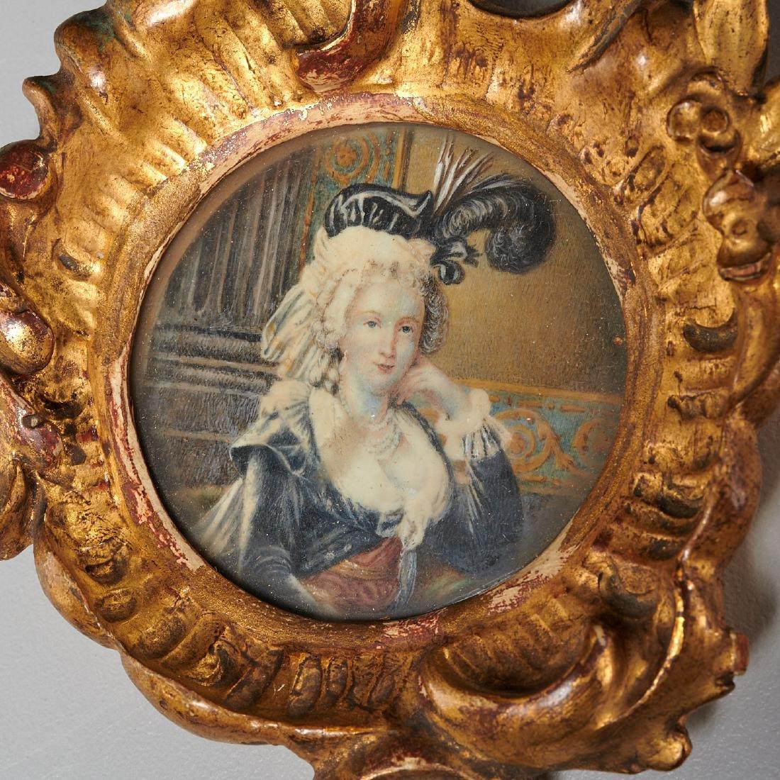 (3) French portrait miniatures of Court Ladies - 2