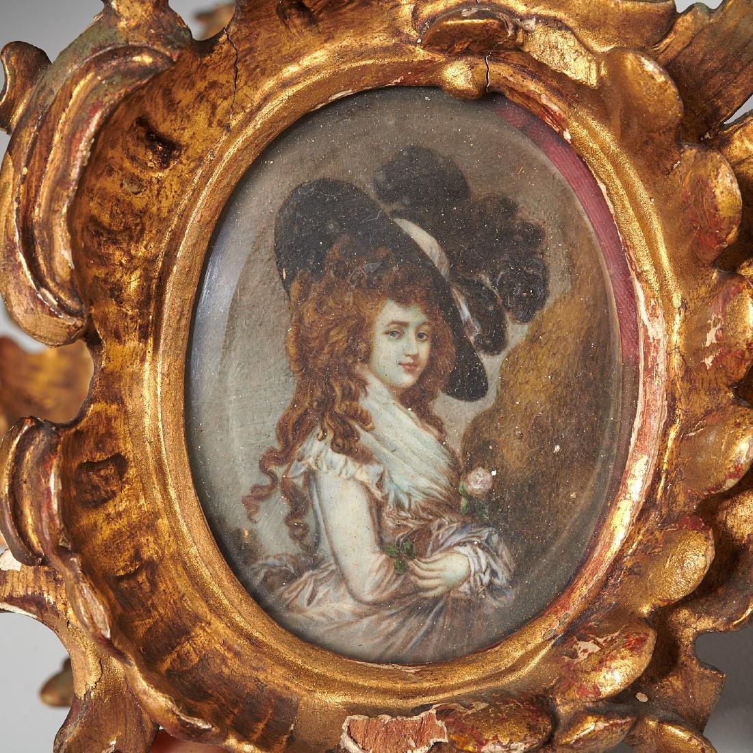 (3) French portrait miniatures of Court Ladies - 3