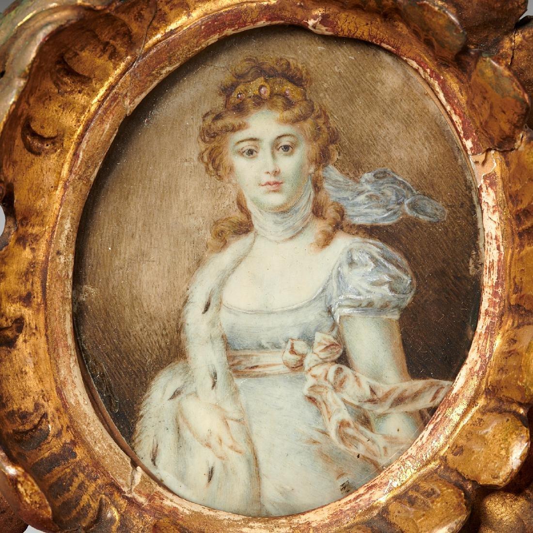 (3) French portrait miniatures of Court Ladies - 4