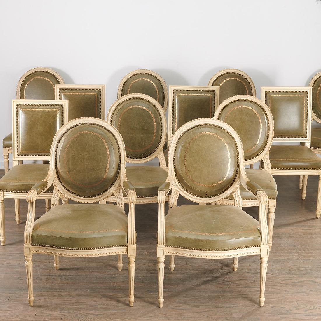 Nice set (12) Louis XVI style dining chairs