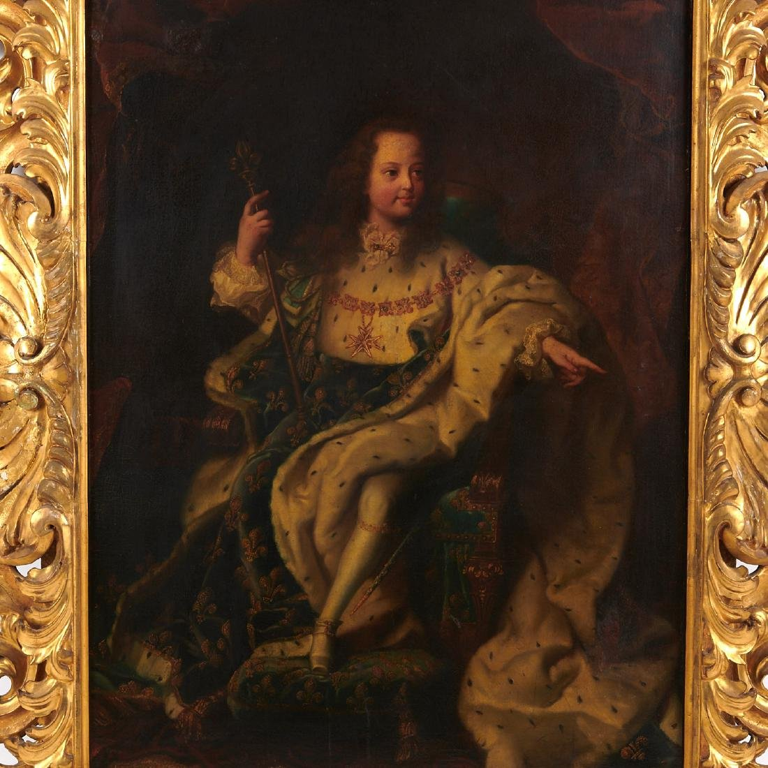 After Hyacinthe Rigaud, portrait of Louis XV - 2