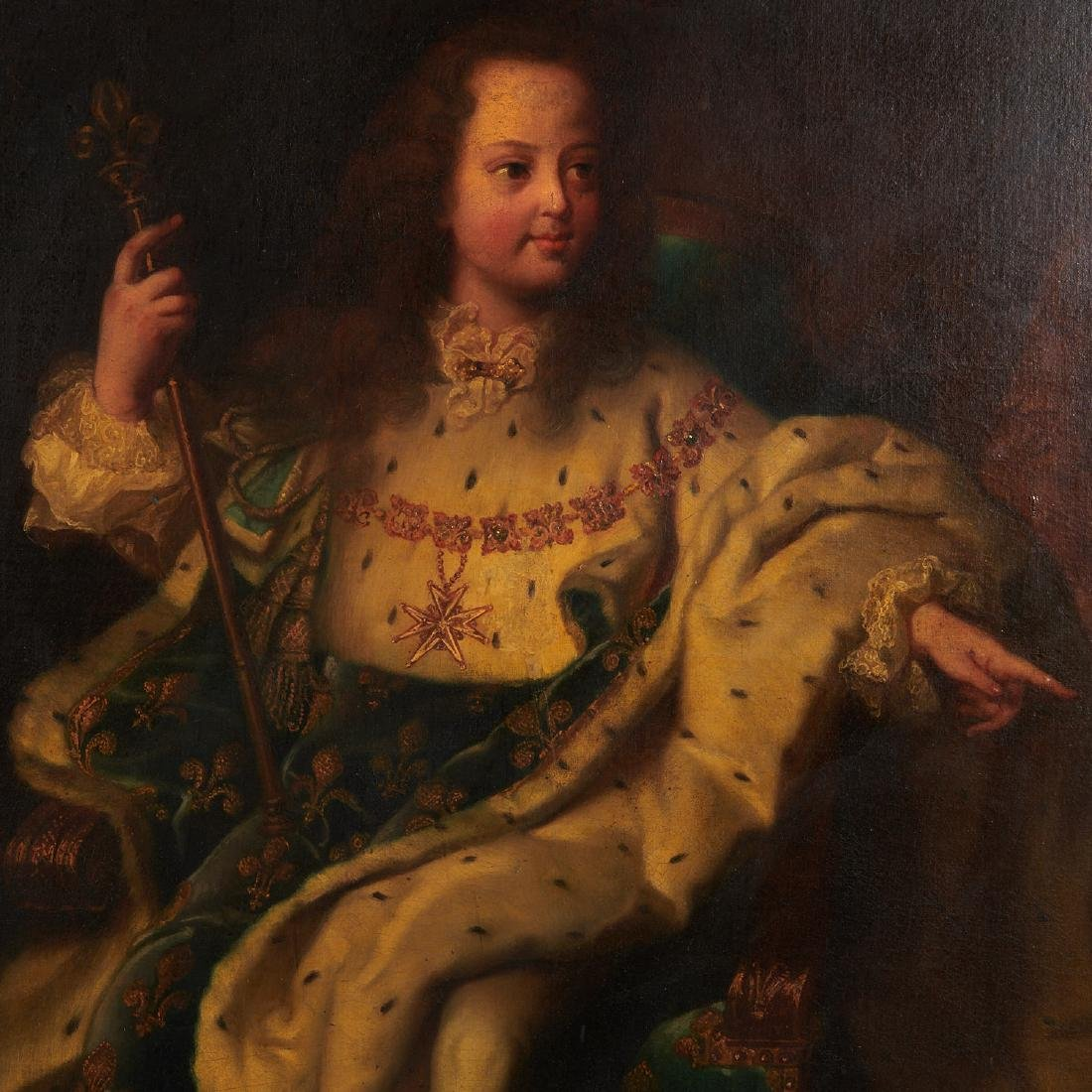 After Hyacinthe Rigaud, portrait of Louis XV - 3