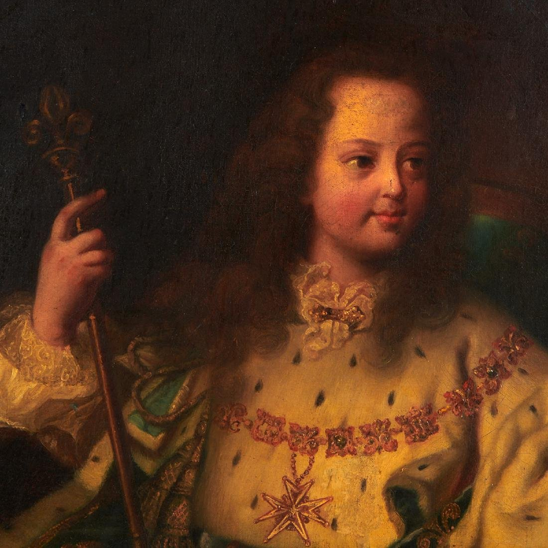 After Hyacinthe Rigaud, portrait of Louis XV - 4