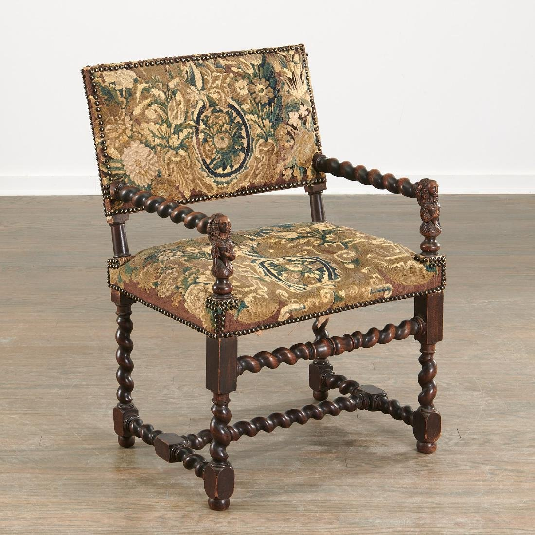Franco-Flemish Baroque style armchair