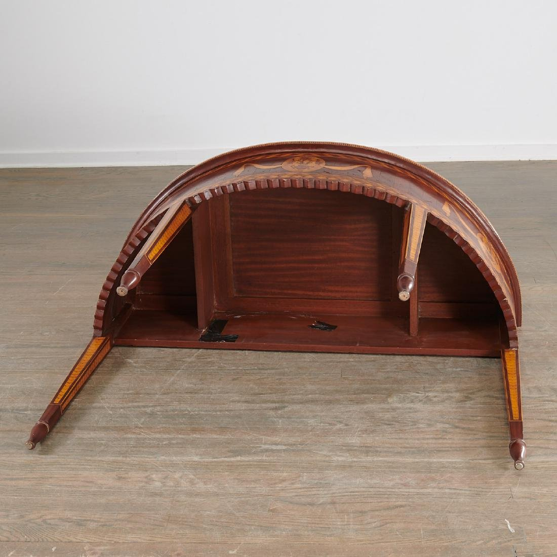 Alfonso Marina parquetry demilune table - 10