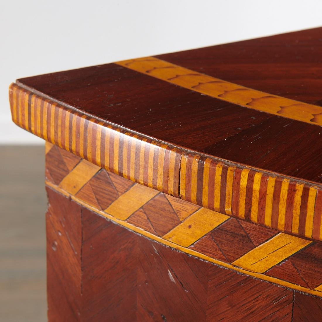 Alfonso Marina parquetry demilune table - 4