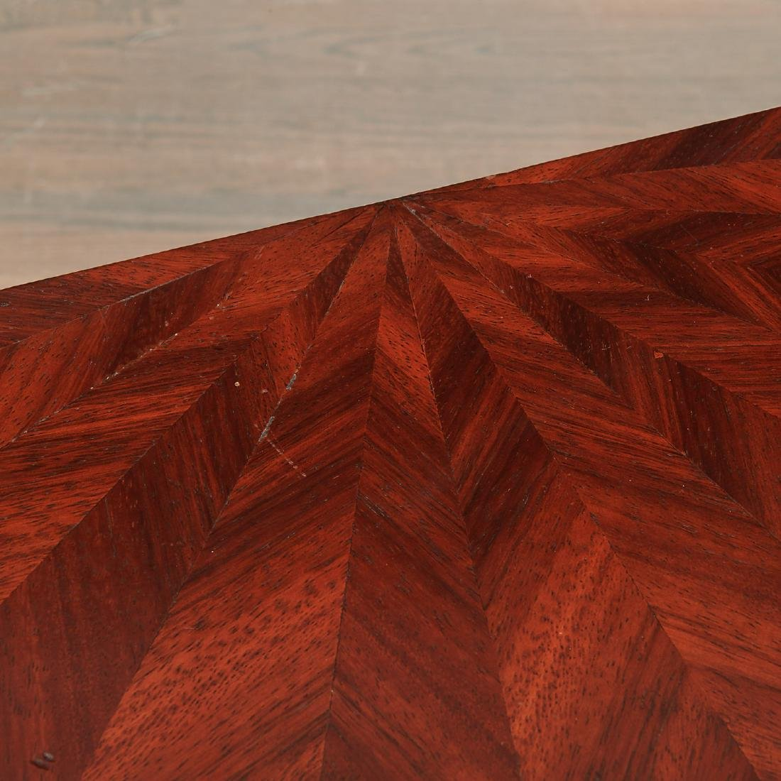 Alfonso Marina parquetry demilune table - 5