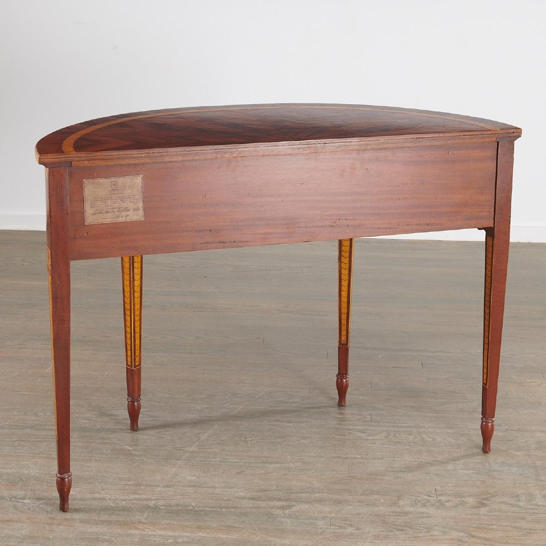 Alfonso Marina parquetry demilune table - 8