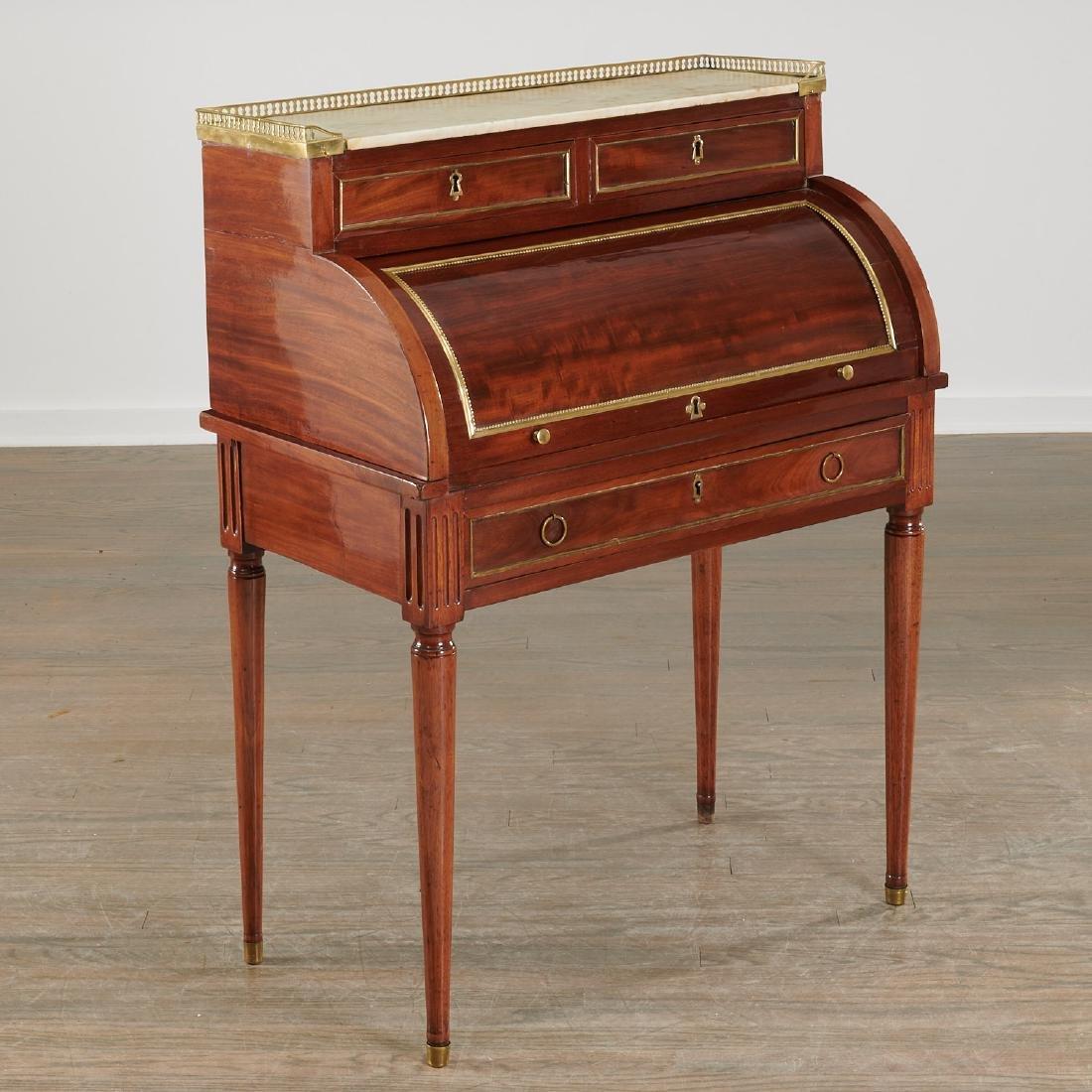 Louis XVI style bureau de cylindre