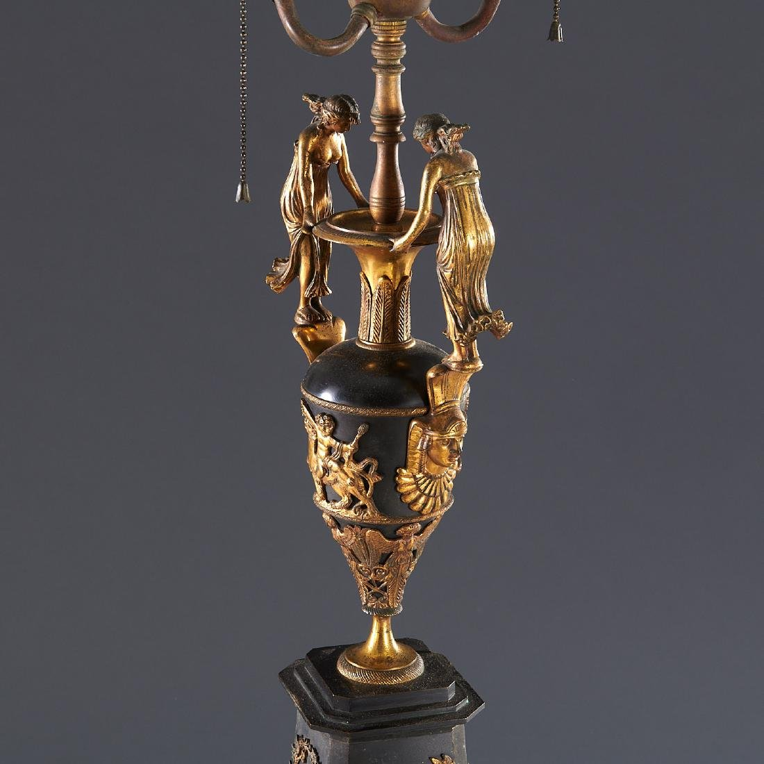 Pair French Empire style table lamps - 3