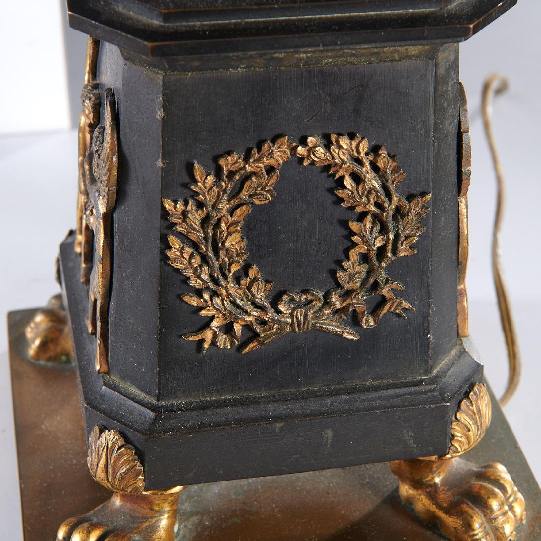Pair French Empire style table lamps - 8