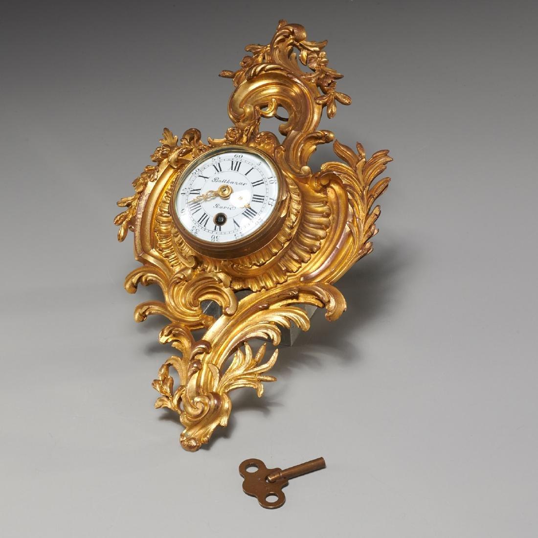 French cartel clock signed Balthazar, Paris