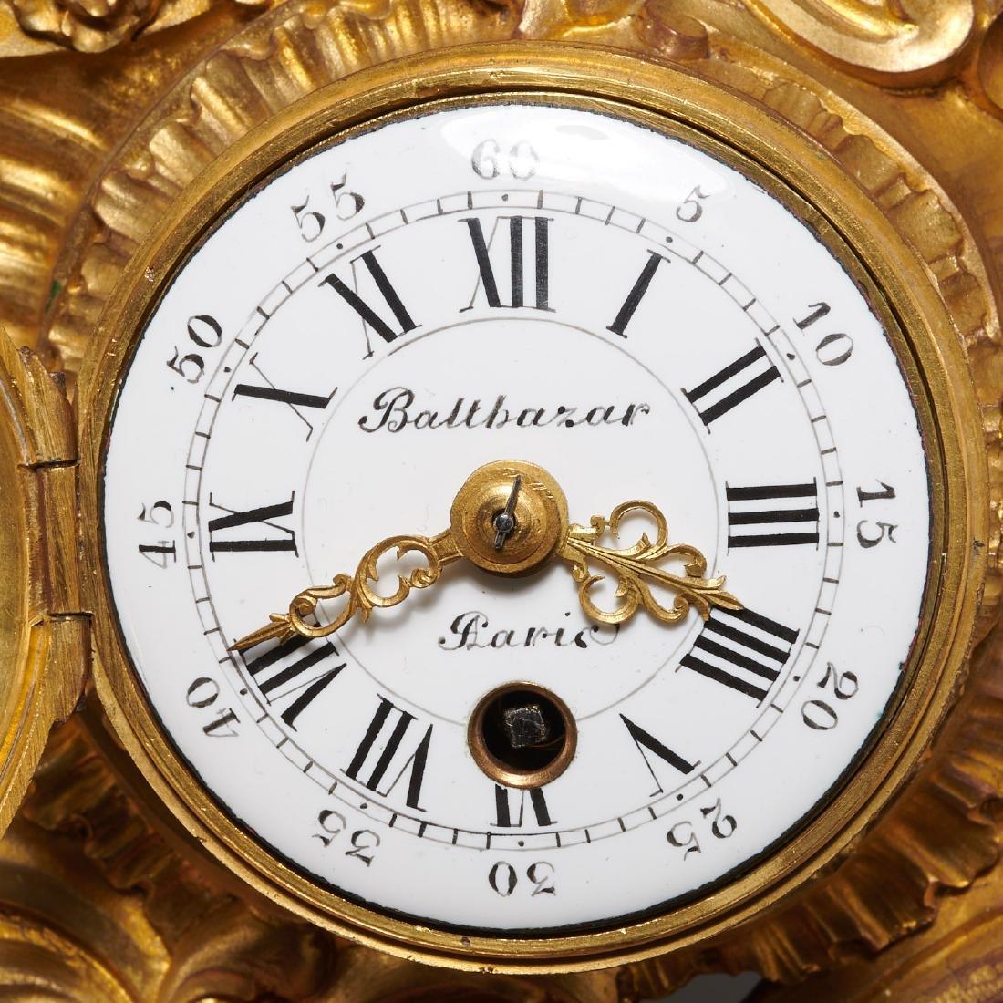French cartel clock signed Balthazar, Paris - 2