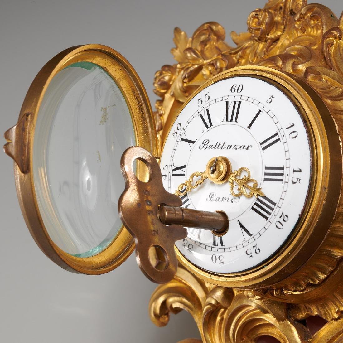 French cartel clock signed Balthazar, Paris - 3