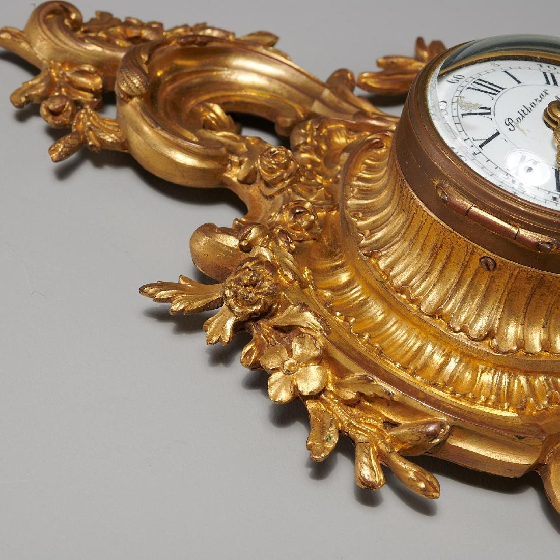 French cartel clock signed Balthazar, Paris - 6