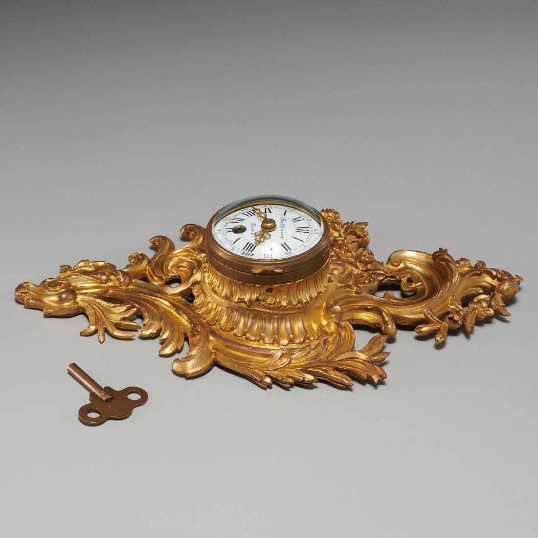 French cartel clock signed Balthazar, Paris - 7