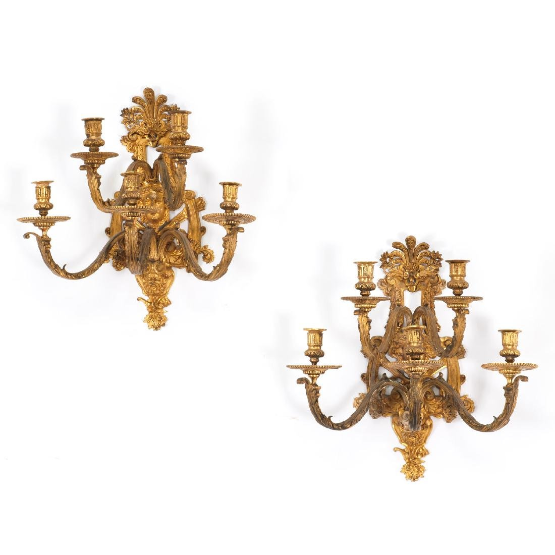 Nice pair antique Regence style wall sconces