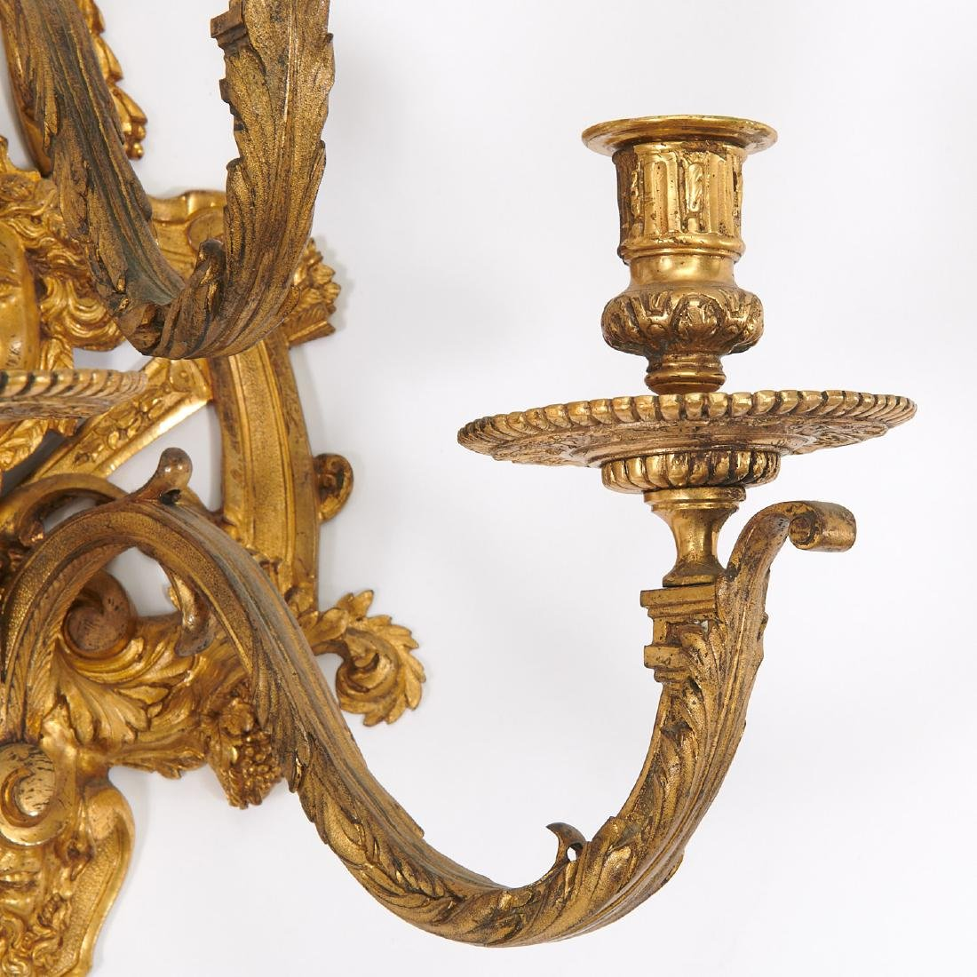 Nice pair antique Regence style wall sconces - 2