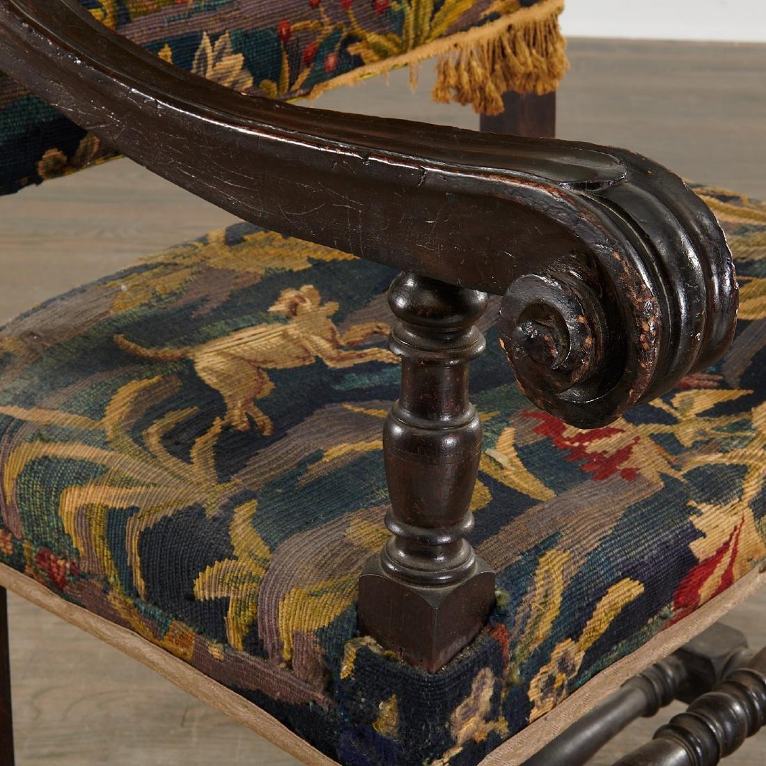 Flemish Baroque verdure tapestry armchair - 2