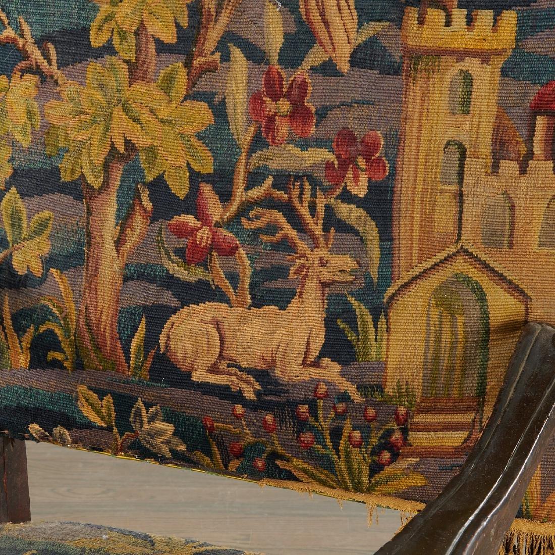 Flemish Baroque verdure tapestry armchair - 3