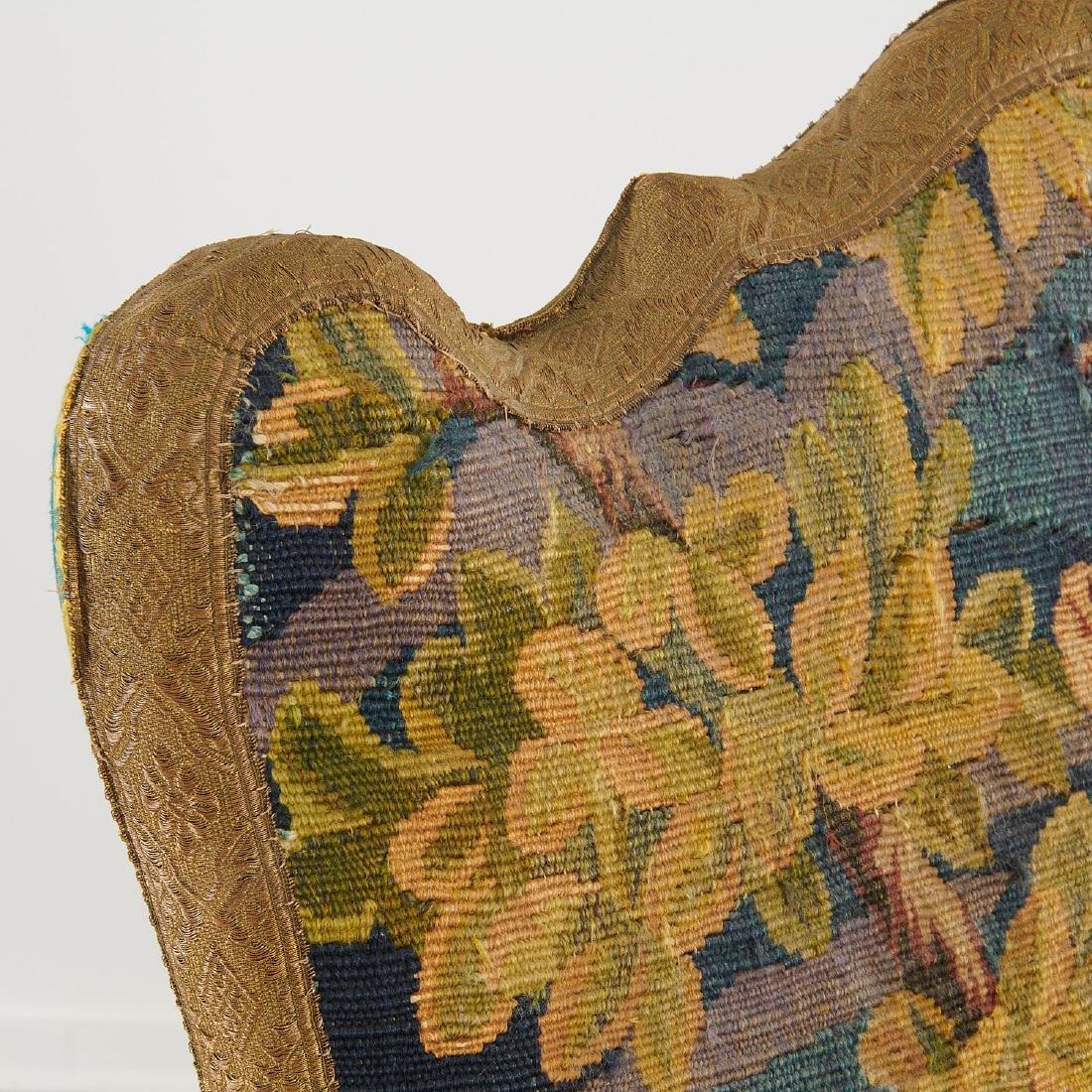 Flemish Baroque verdure tapestry armchair - 4