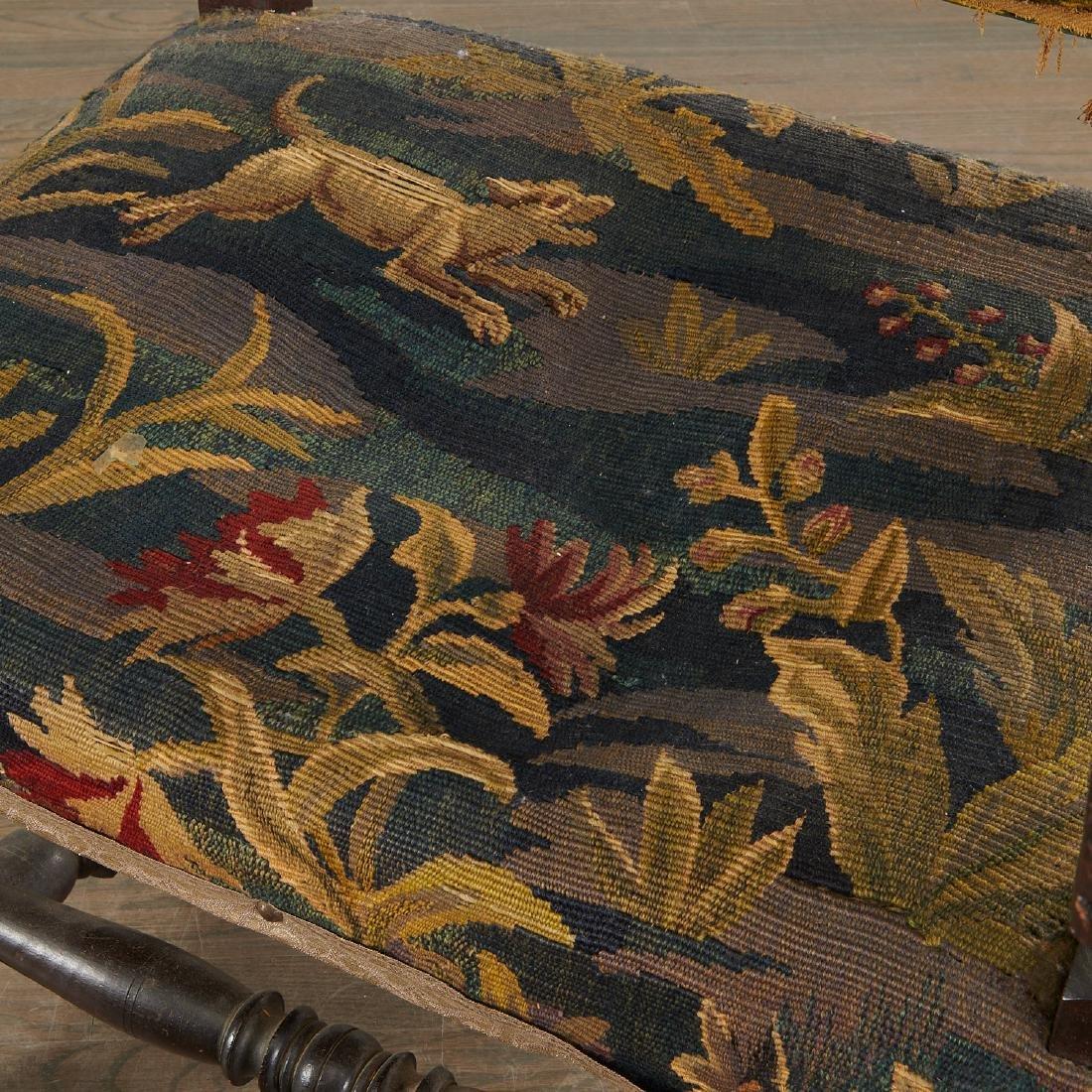 Flemish Baroque verdure tapestry armchair - 5