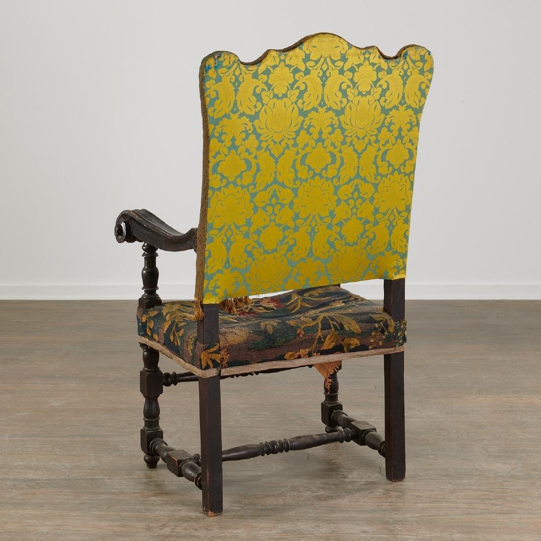 Flemish Baroque verdure tapestry armchair - 6