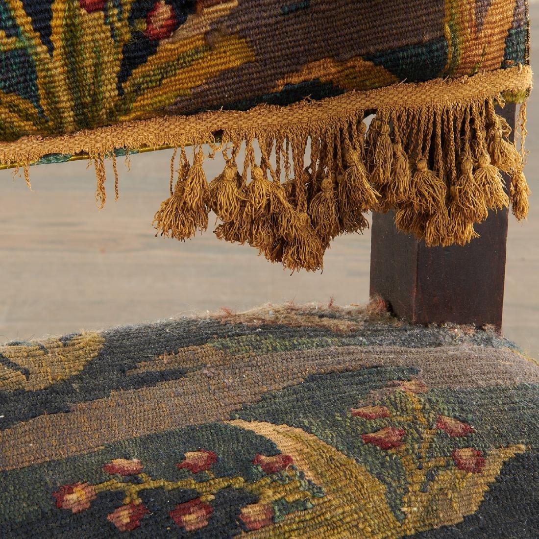 Flemish Baroque verdure tapestry armchair - 7