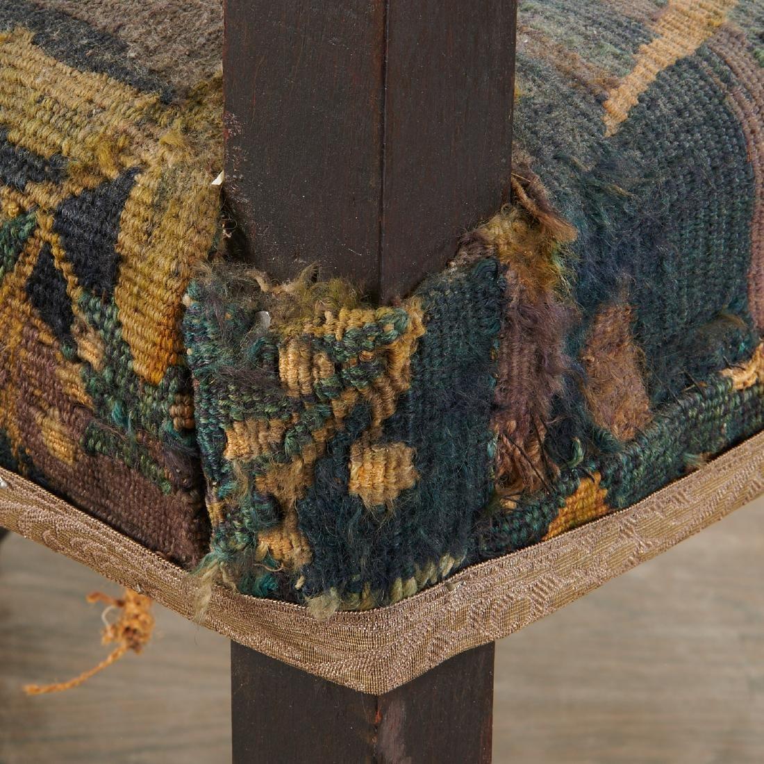 Flemish Baroque verdure tapestry armchair - 8