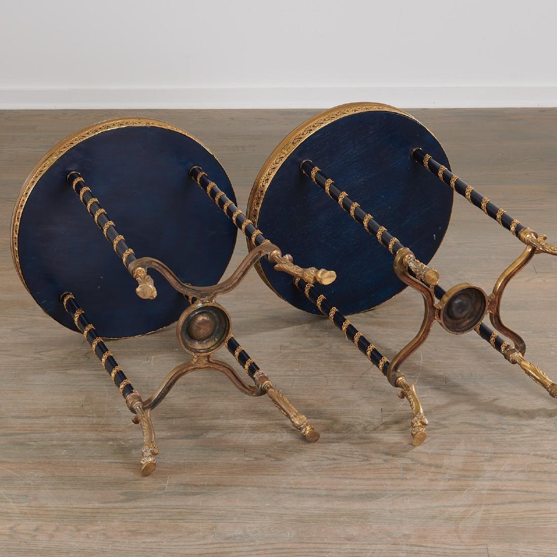 Pair Louis XVI style gueridons - 7