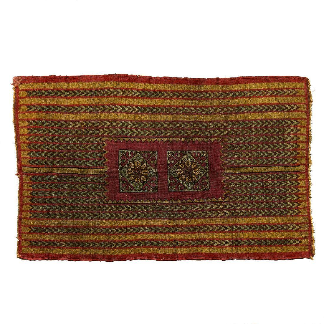Unusual antique Caucasian rug or bag face