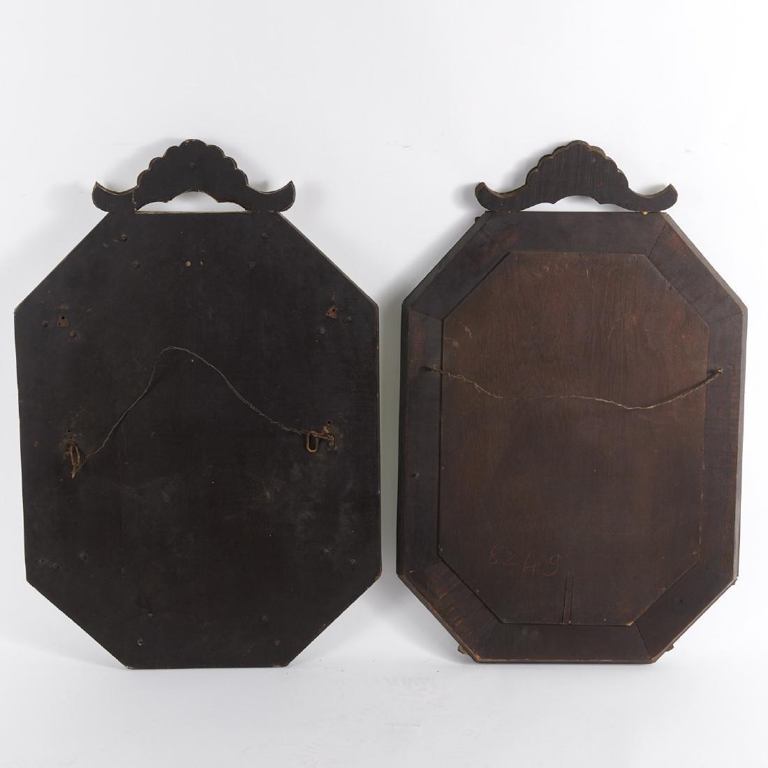 Harlequin pair Venetian style glass mirrors - 10