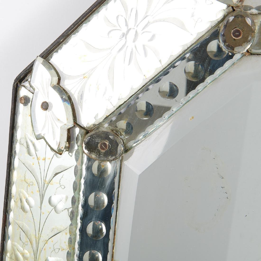 Harlequin pair Venetian style glass mirrors - 3