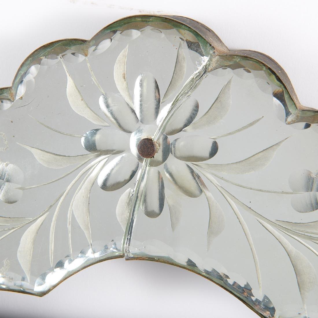 Harlequin pair Venetian style glass mirrors - 5