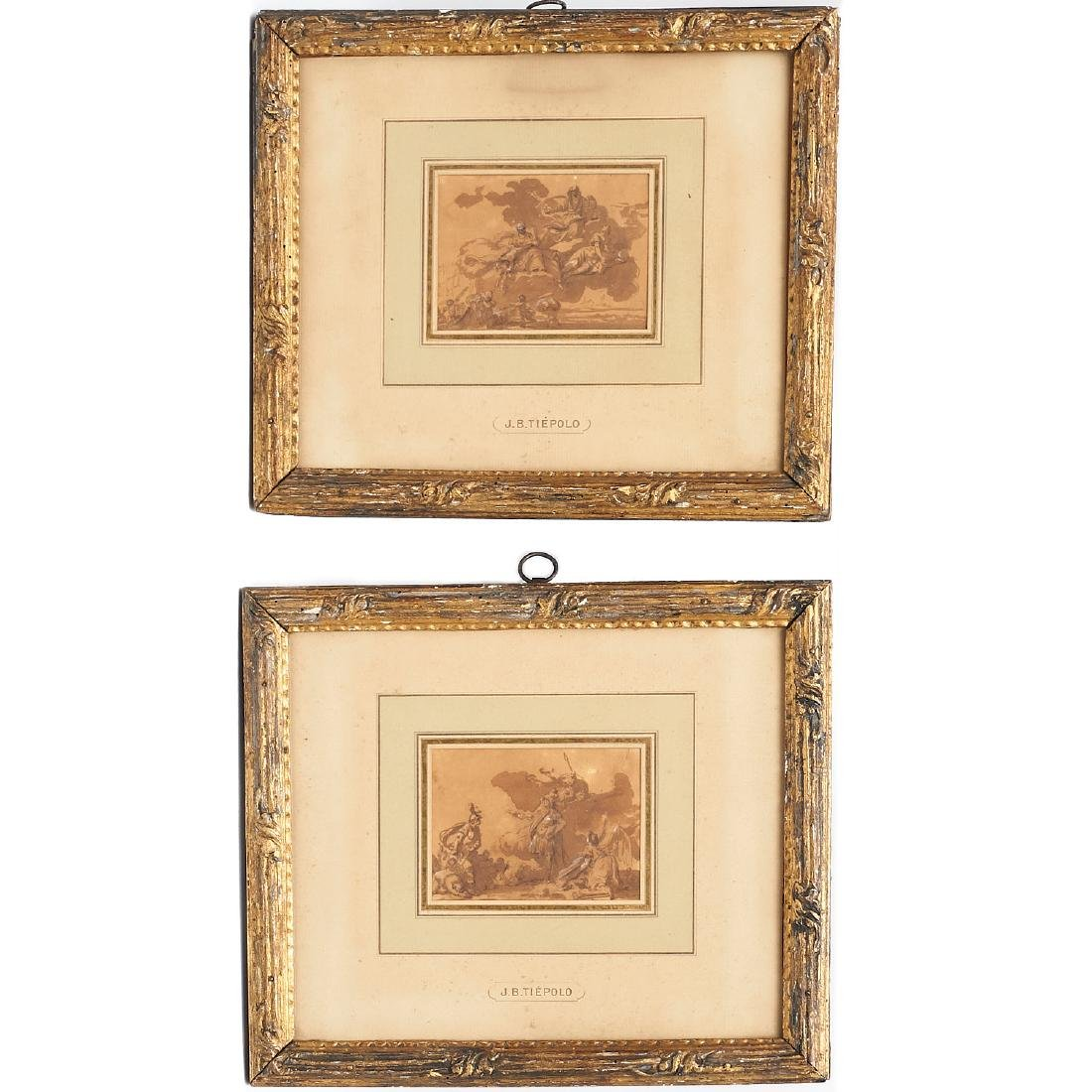 Giovanni Battista Tiepolo (after), (2) drawings