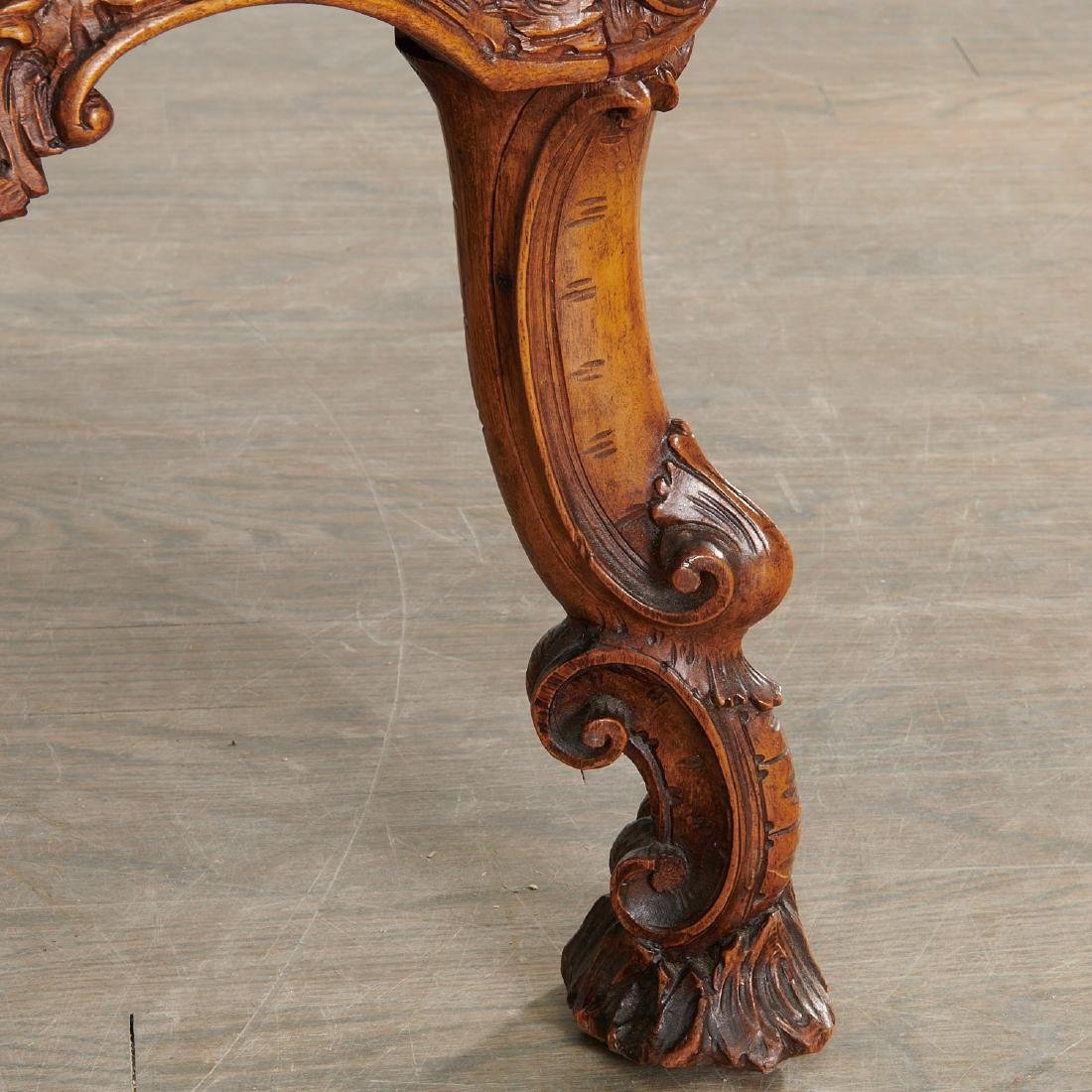 "Italian carved wood ""Grotto"" settee - 6"