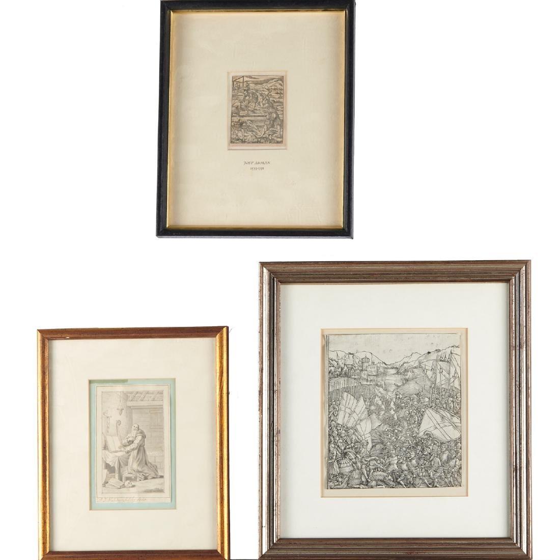 (3) Old Master woodcut engravings